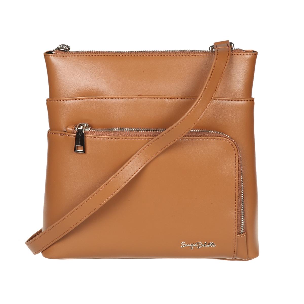 9b4705c27c7d Сумка Sergio Belotti 648 brown, 25.5x25 см, натуральная кожа, цвет ...