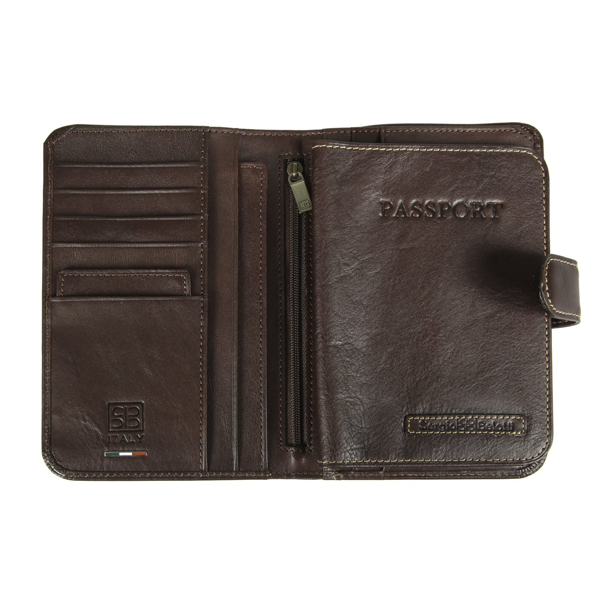 b822fc4895ac 2334 ancona brown Портмоне с обложкой для паспорта Sergio Belotti — доп.  фото №2
