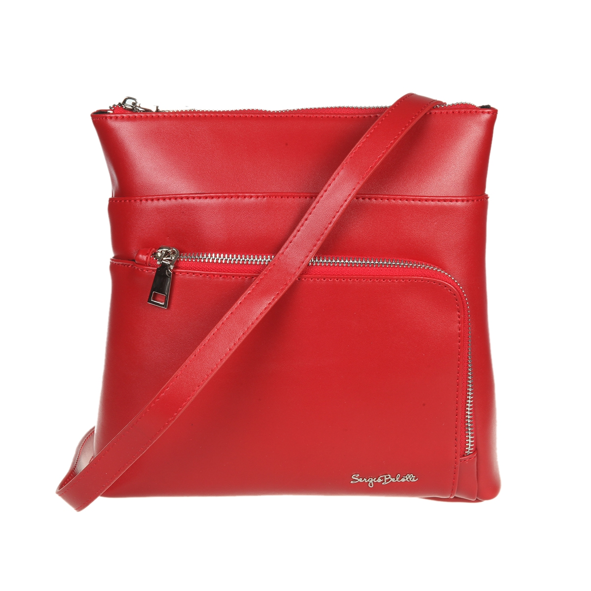 43560d4c37c3 Сумка Sergio Belotti 648 red, 25.5x25 см, натуральная кожа, цвет ...